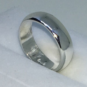 Size 3 Plain Slim Solid SIlver Ring Band
